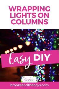 Easy DIY Light Hangers for Columns