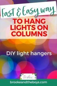 How to hang lights on pillars