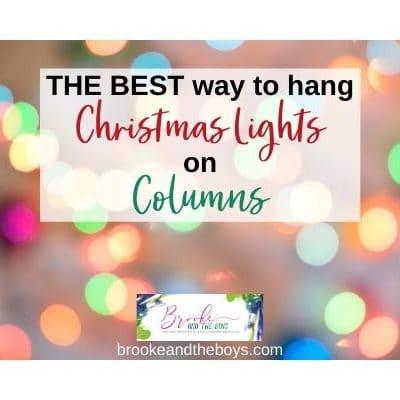 Hanging Christmas Lights on Columns