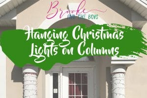 Hang lights on pillars