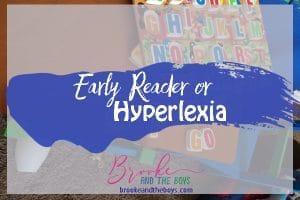 Early Reader or Hyperlexia