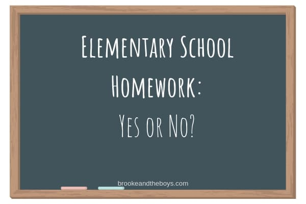 Elementary School Homework?