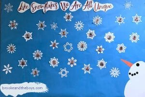 winter snowman bulletin board