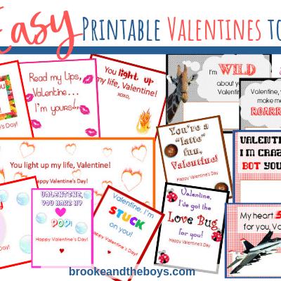 13 Easy Printable Valentines