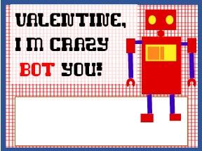 Valentines for Kids - Robots - Boys