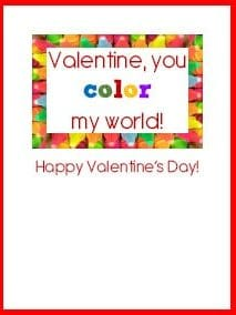 Color My world Valentine Card