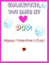 Kid Valentines Heart Pop Bubble