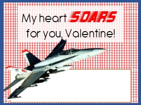 Valentines for Boys - Plane Jet