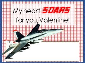 Valentines for Boys - Plane Jet