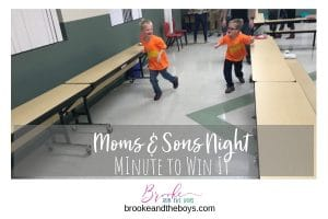 Minute to Win It Game Moms and Sons