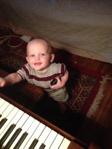 Boys love the piano