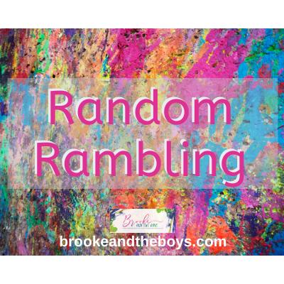Random Rambling